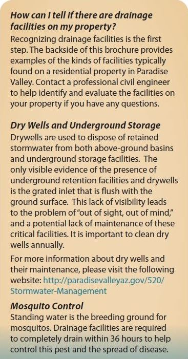 Residential Drainage Facilities Brochure 2