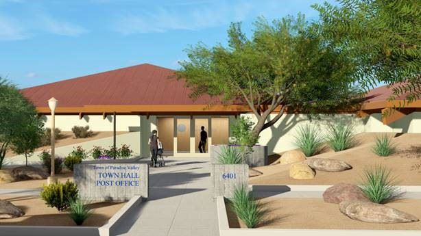 Photo rendering of Town Hall Remodel