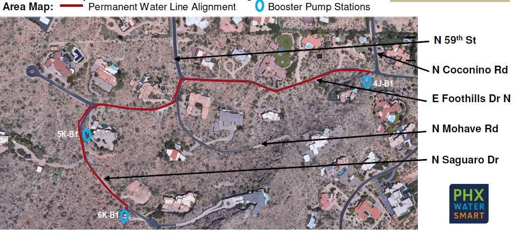 Water line map